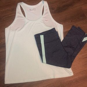 Athletic Exercise Capri and Tank